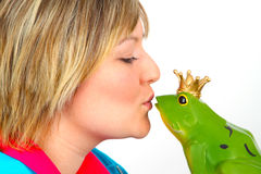 Frog prince Stock Images