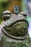 Frog prince. Metal sculpture of a frog prince Royalty Free Stock Images