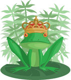 The Frog Prince. With a crown Royalty Free Stock Photo