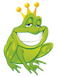 Frog prince. Vector illustration Isolated frog prince