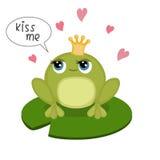 Frog prince Stock Photography