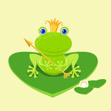 Frog Prince cartoon character Stock Image