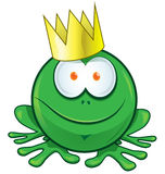 Frog prince cartoon Stock Photography