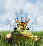 Frog Prince Castle concept stock illustration