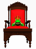 Frog prince in chair Stock Photography