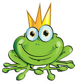 Frog prince. Funny cartoon  frog prince design Royalty Free Stock Images