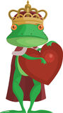 The Frog Prince with an heart Stock Photo