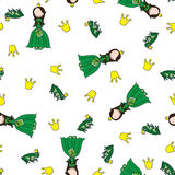 The frog prince pattern Stock Photography
