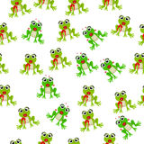 Frog prince or princess. Very high quality original trendy vector seamless pattern with frog prince or princess Royalty Free Stock Photography