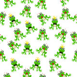 Frog prince or princess. Very high quality original trendy vector seamless pattern with frog prince or princess Royalty Free Stock Image