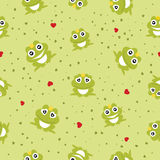 Frog Prince seamless background. Vector illustration Stock Image