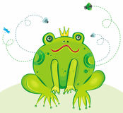 Frog Prince Vector Illustration stock illustration