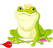 Frog Prince. Waiting to be kissed vector illustration