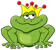 Frog prince waiting to be kissed Stock Photo