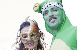 The frog and princess royalty free stock photos