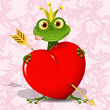 The frog princess. Abstract illustration of the frog princess with the heart Royalty Free Stock Photos