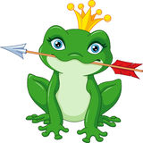 Frog Princess. Cute princess frog caught arrow Royalty Free Stock Images
