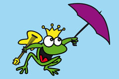 A frog queen and guitarist Royalty Free Stock Photo