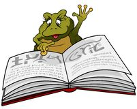 Frog Reading Book Royalty Free Stock Photography