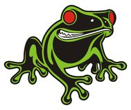 FROG RED EYES Stock Image