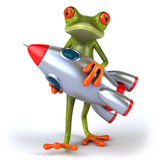Frog and rocket Royalty Free Stock Photography