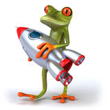 Frog and rocket Stock Photo