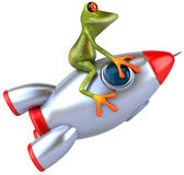Frog and rocket Royalty Free Stock Images