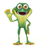 Frog say hello Royalty Free Stock Image