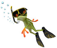 Frog scuba diver Stock Photos