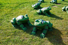 The frog sculpture Stock Photography