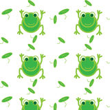 Frog seamless Royalty Free Stock Photo