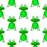 Frog seamless pattern Stock Images