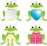 Frog set Stock Photos
