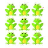 Frog set of Flat style on white background vector isolated EPS 10.  Royalty Free Stock Photo