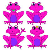Frog set on white background vector isolated EPS 10 Royalty Free Stock Photo