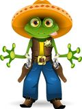 Frog sheriff. Illustration of a frog dressed as sheriff stock illustration