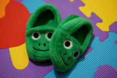 Frog shoes Stock Photo