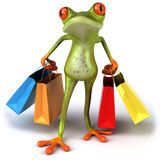Frog shopping Royalty Free Stock Photos