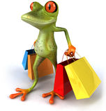 Frog shopping Royalty Free Stock Images