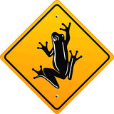 Frog sign Royalty Free Stock Images