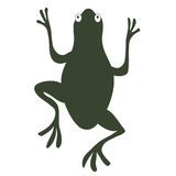 frog silhouette Stock Photography