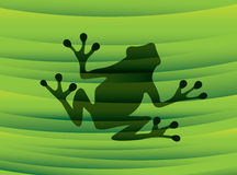 Frog silhouette Royalty Free Stock Images
