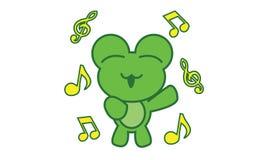 Frog singing Royalty Free Stock Photo
