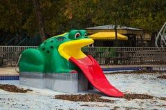 Frog Slide. A frog slide at Schlitterbahn in New Braunfels, Texas Royalty Free Stock Image