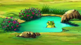 Frog in the Small Pond vector illustration