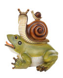 A frog and Snail Friendship Royalty Free Stock Photos