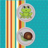 Frog and snail Royalty Free Stock Image