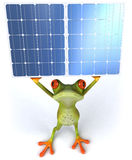 Frog with solar panels Stock Images