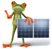 Frog with solar panels Royalty Free Stock Photos