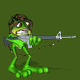 Frog Soldier 1. A frog soldier who is a member of the amphibian assault team royalty free illustration